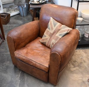 Vintage leather chairs, 2 available